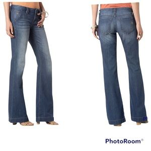 Miss Me Medium Wash Mid Rise Wide Trouser Size 28